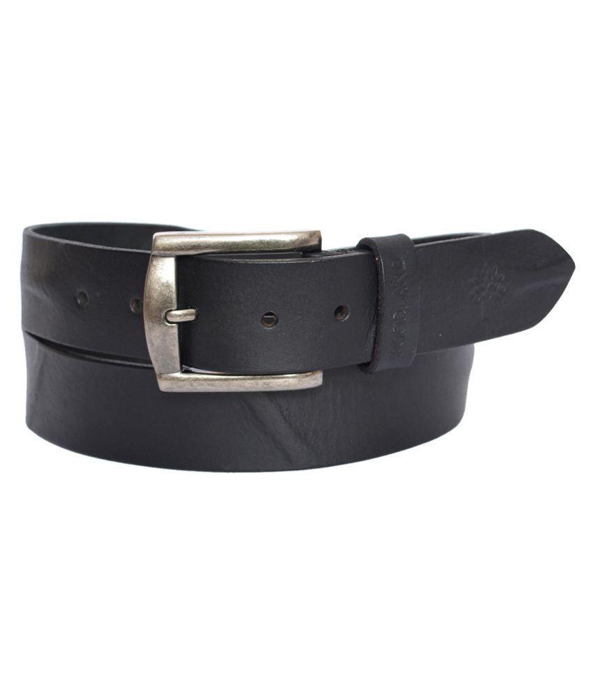 Dragons Black Canvas Casual Belts