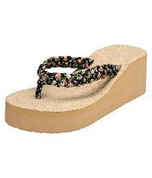 Vaniya Shoes Black Platforms Heels