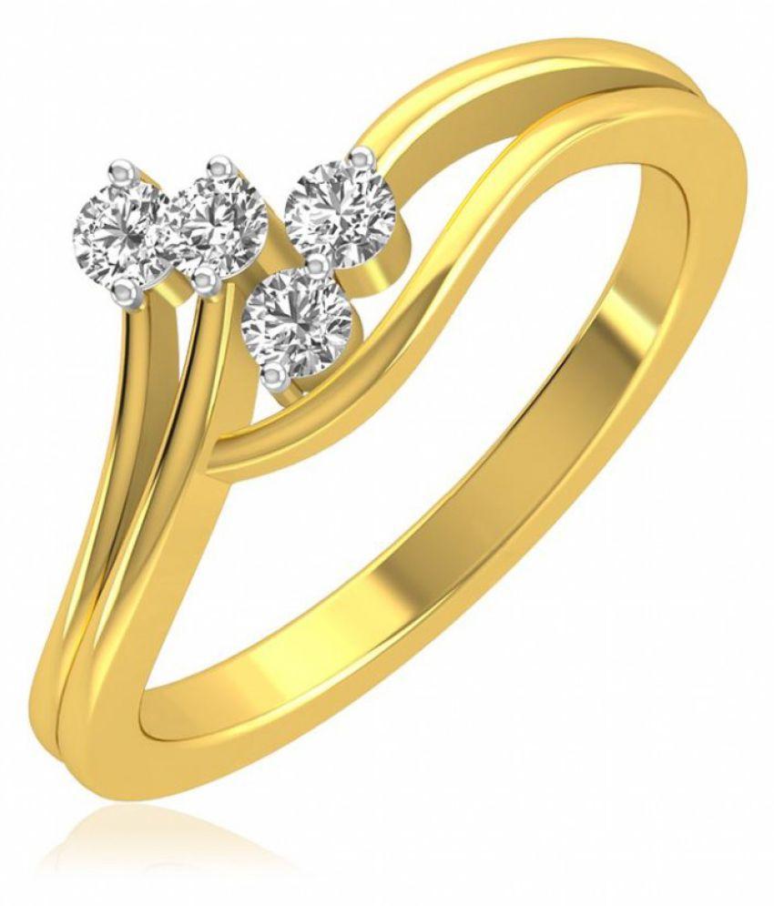 RockRush 18k Yellow Gold Ring