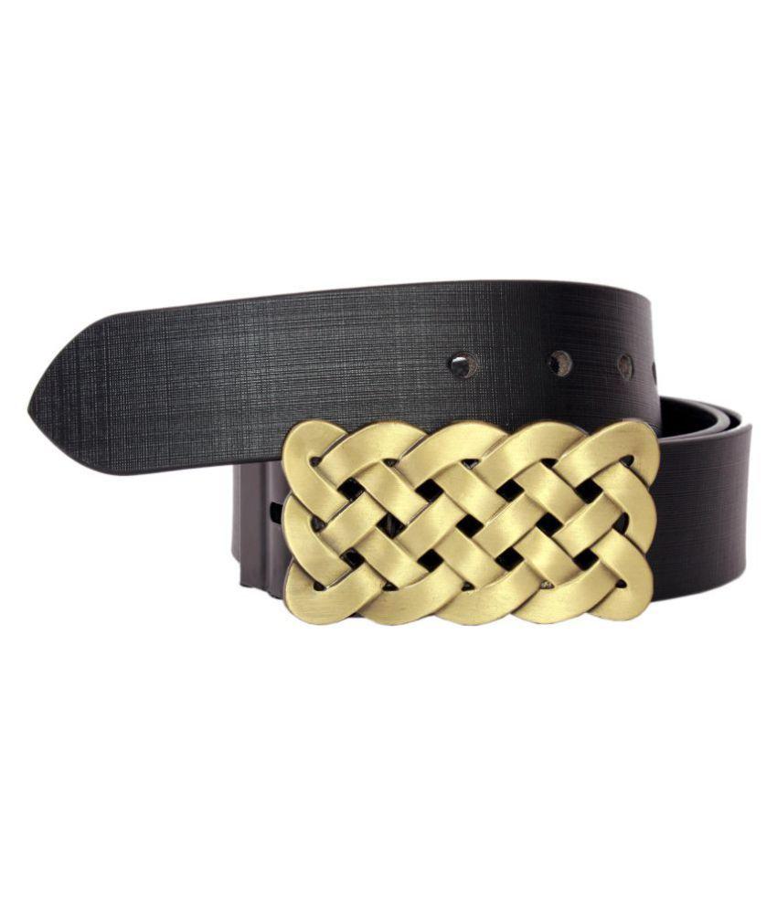 Sri Black PU Casual Belts