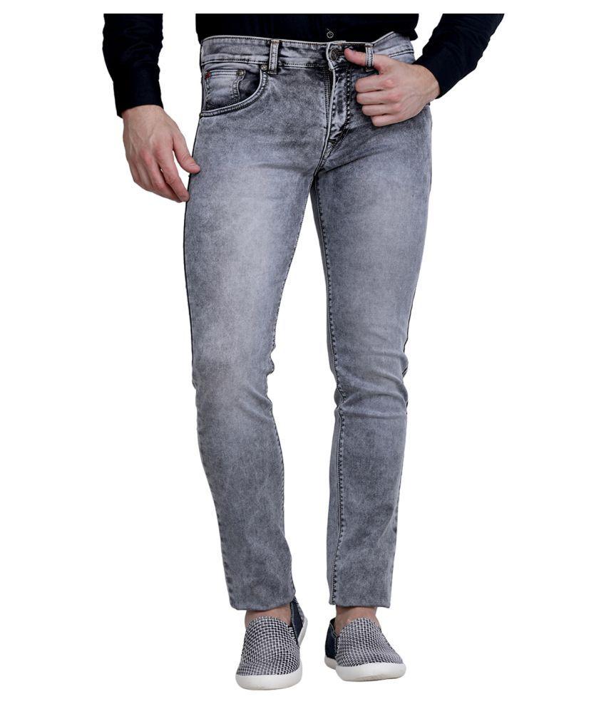 La Mode Grey Regular Fit Jeans