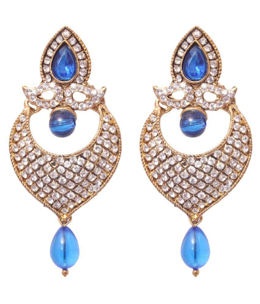Penny Jewels Oxidized Diamond Non-Precious Sparkling Funky Earrings Set For Women & Girls
