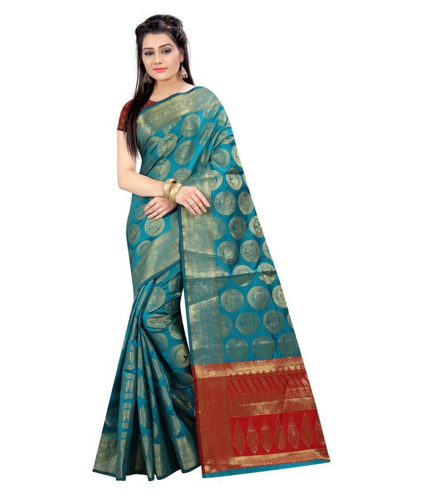Dulhan Green silk Saree