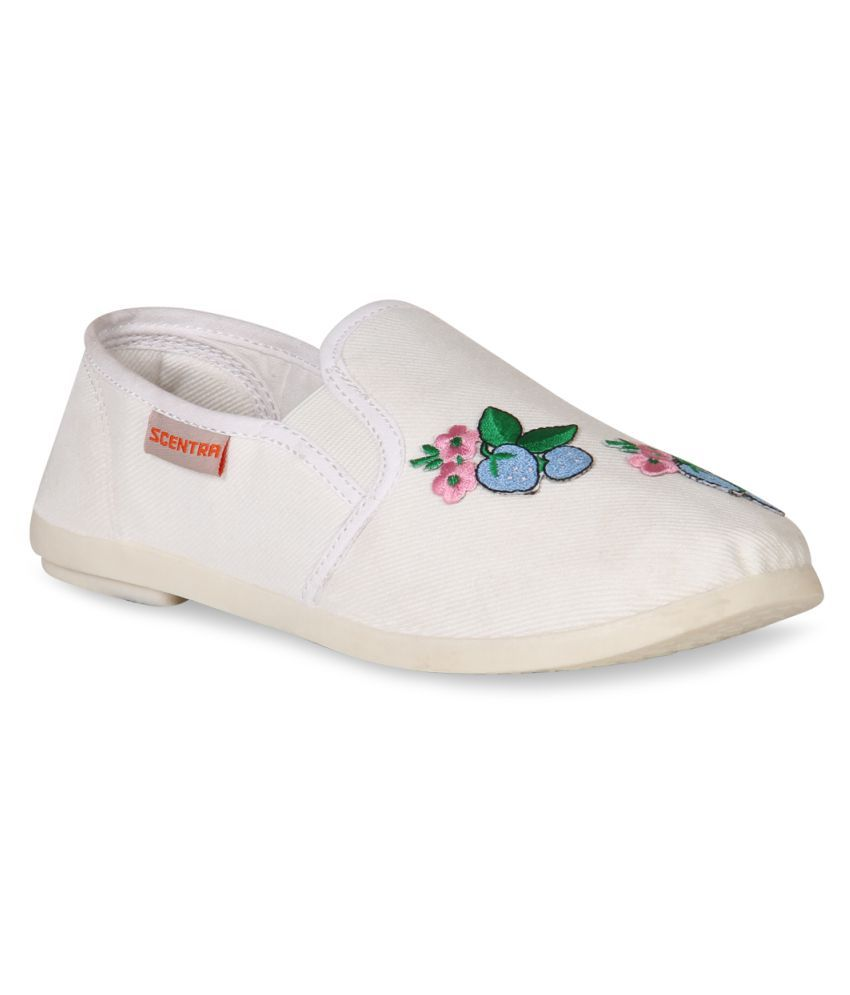 Scentra White Casual Shoes