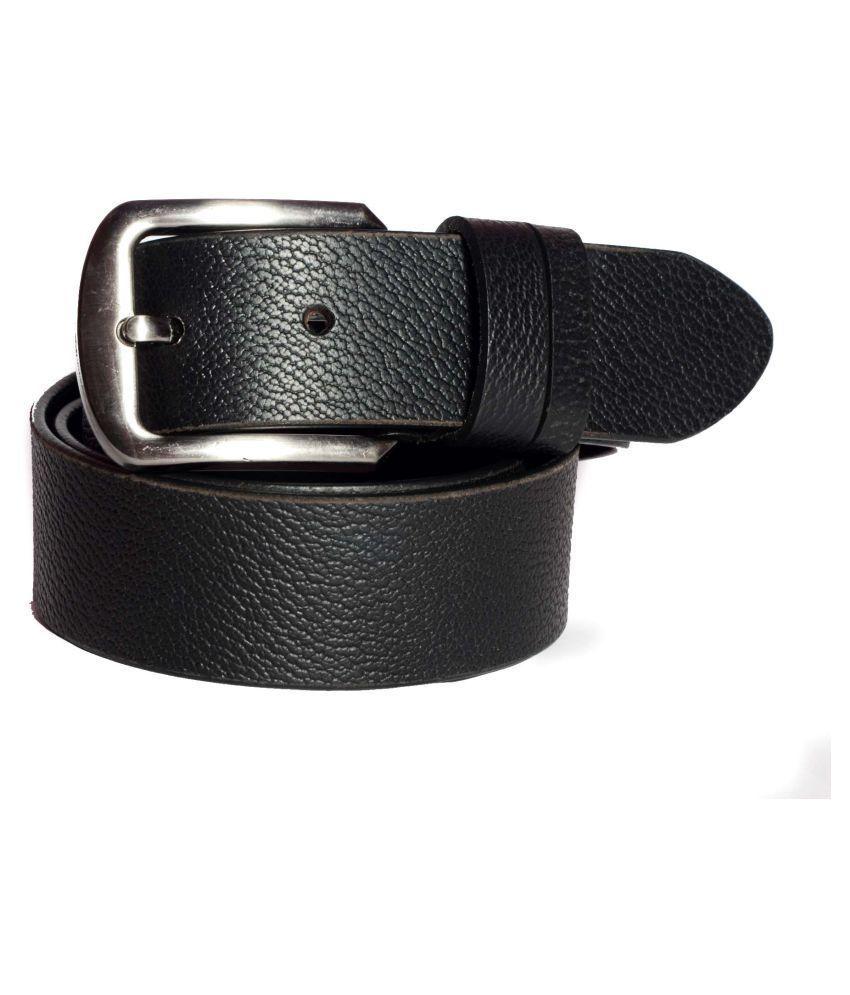 Aller Black Leather Formal Belts