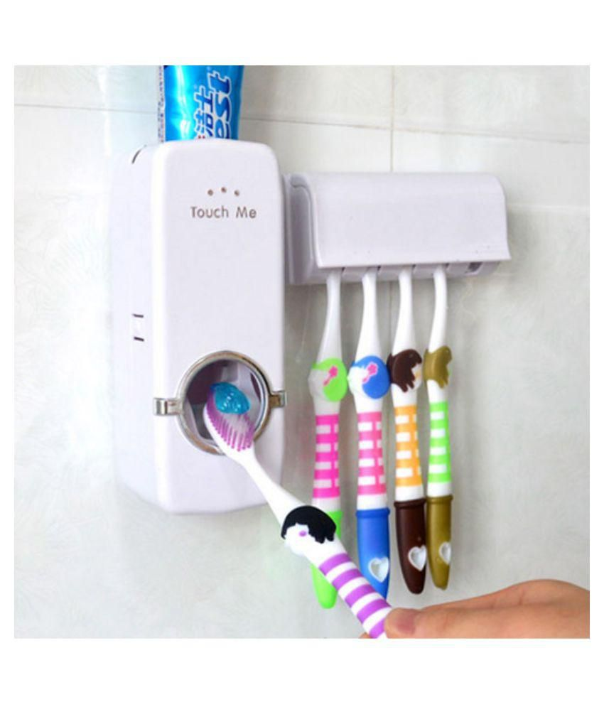 Buy Automatic Toothpaste Dispenser And Toothbrush Holder