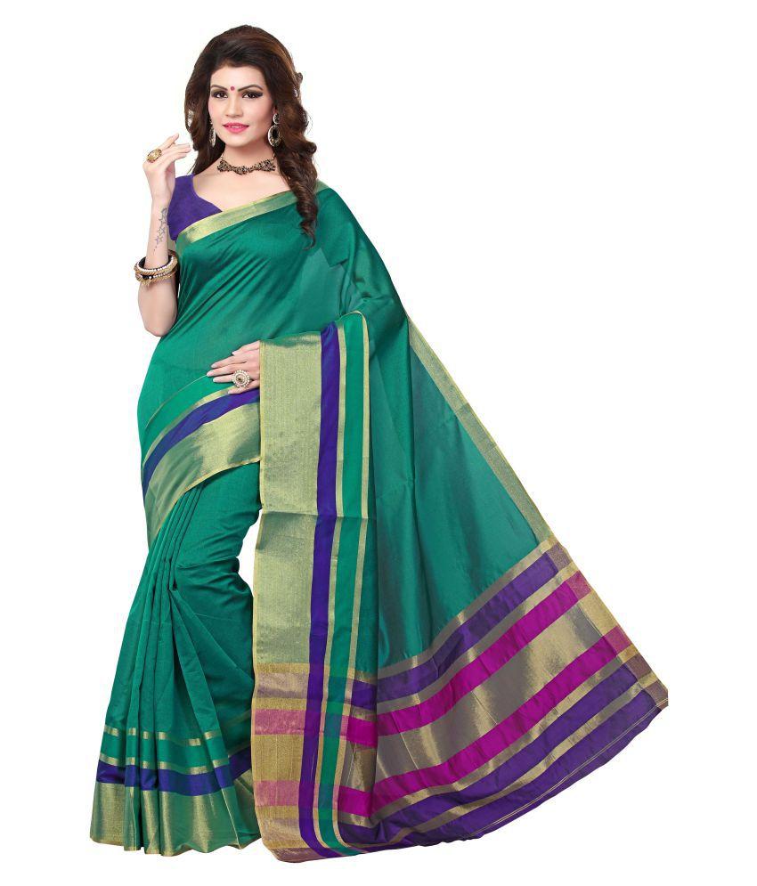 Pagazo Multicoloured Cotton Silk Saree
