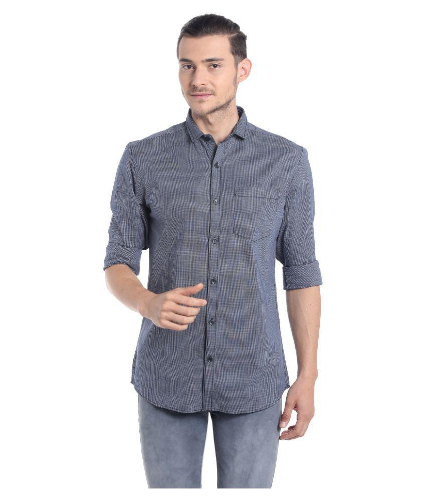 Fast n Fashion Grey Casual Slim Fit Shirt