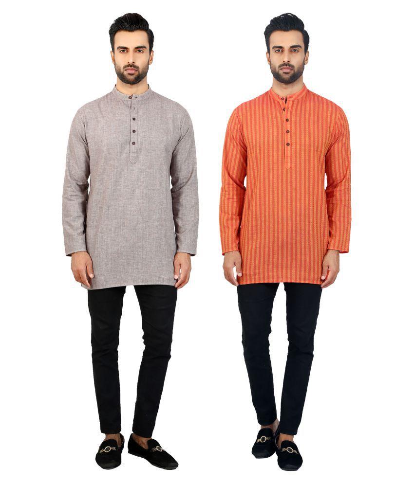 Salwar Studio Multi Cotton Kurta Pack of 2