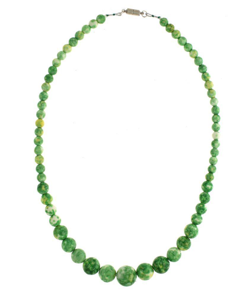 Anuradha Art Green Colour Beautiful Zoisite Beaded Necklace For Women/Girls
