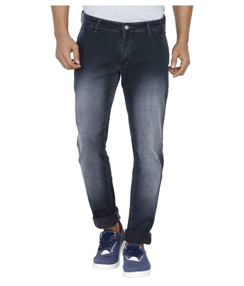 Poliss Grey Regular Fit Jeans
