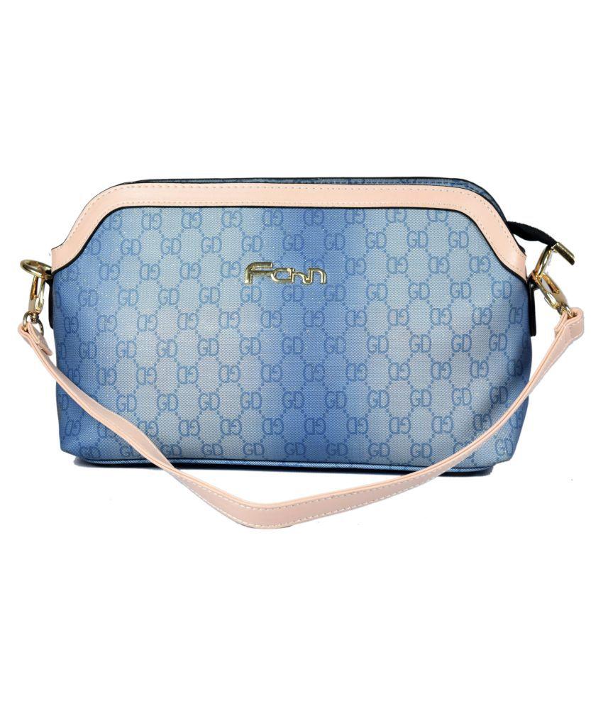 Daresay Blue Faux Leather Sling Bag