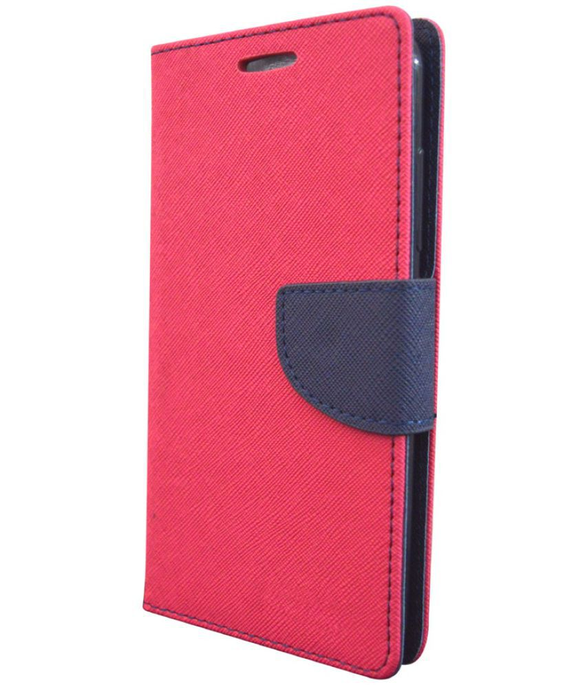 Moto C Plus Flip Cover by COVERNEW - Pink
