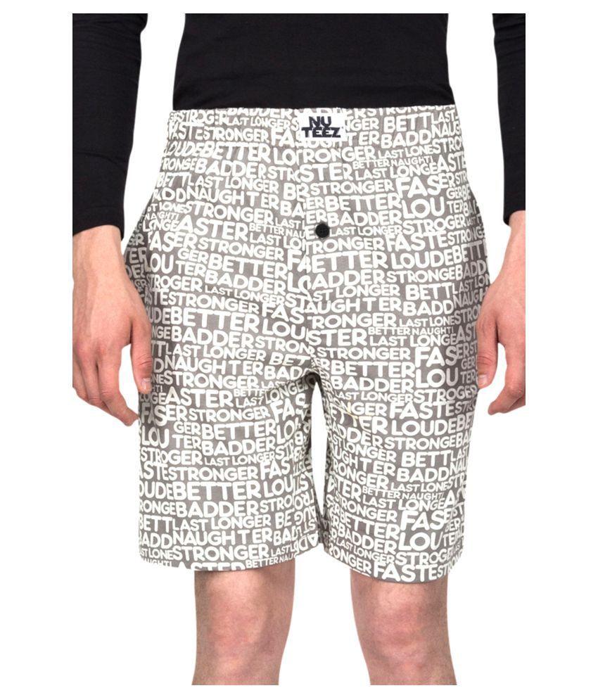 Nuteez Grey Shorts
