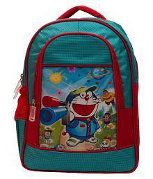Bizarro Blue Doraemon Polyester School Bag