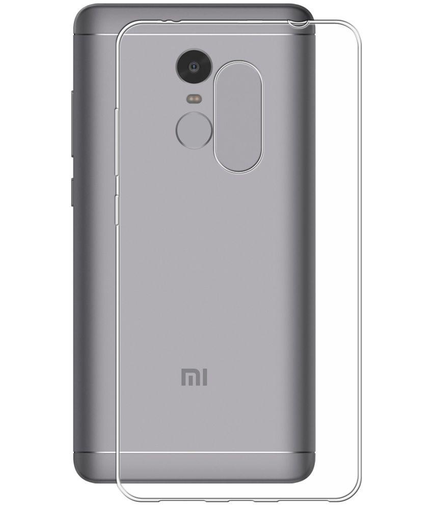 huge selection of 7e2ae d55bf Xiaomi Redmi Note 4 Soft Silicon Cases PraIQ - Transparent
