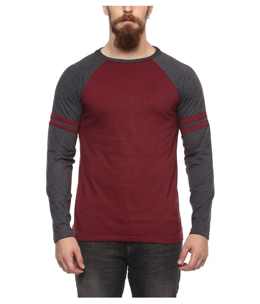 Veirdo Maroon Round T-Shirt