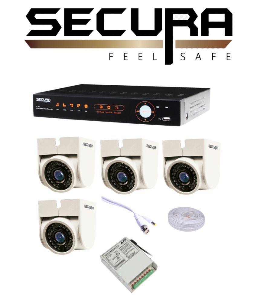 Fine Secura 4 Dome Cctv Cameras 1 Dvr 1 Wire 1 Power Supply 12 Wiring Digital Resources Apanbouhousnl