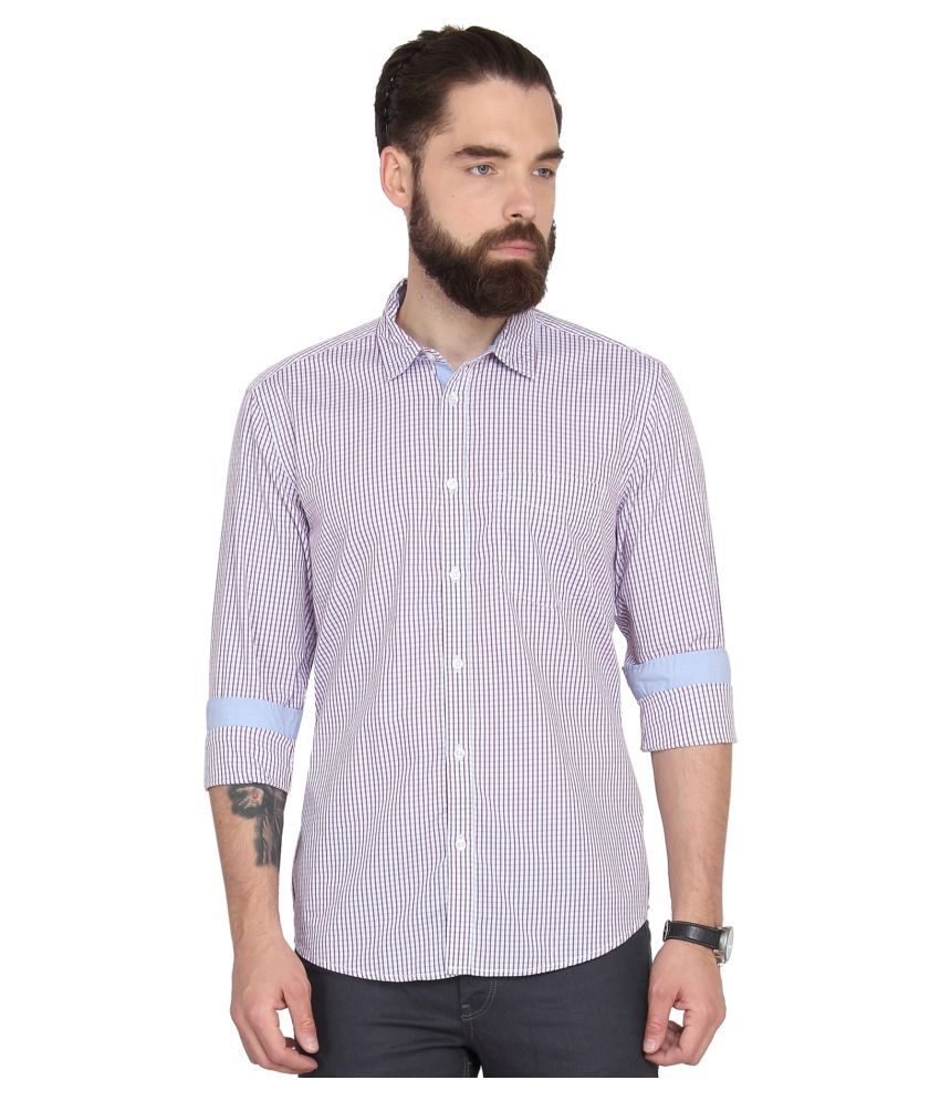 Urban Nomad Pink Casual Slim Fit Shirt