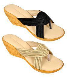 Altek Multi Color Wedges Heels