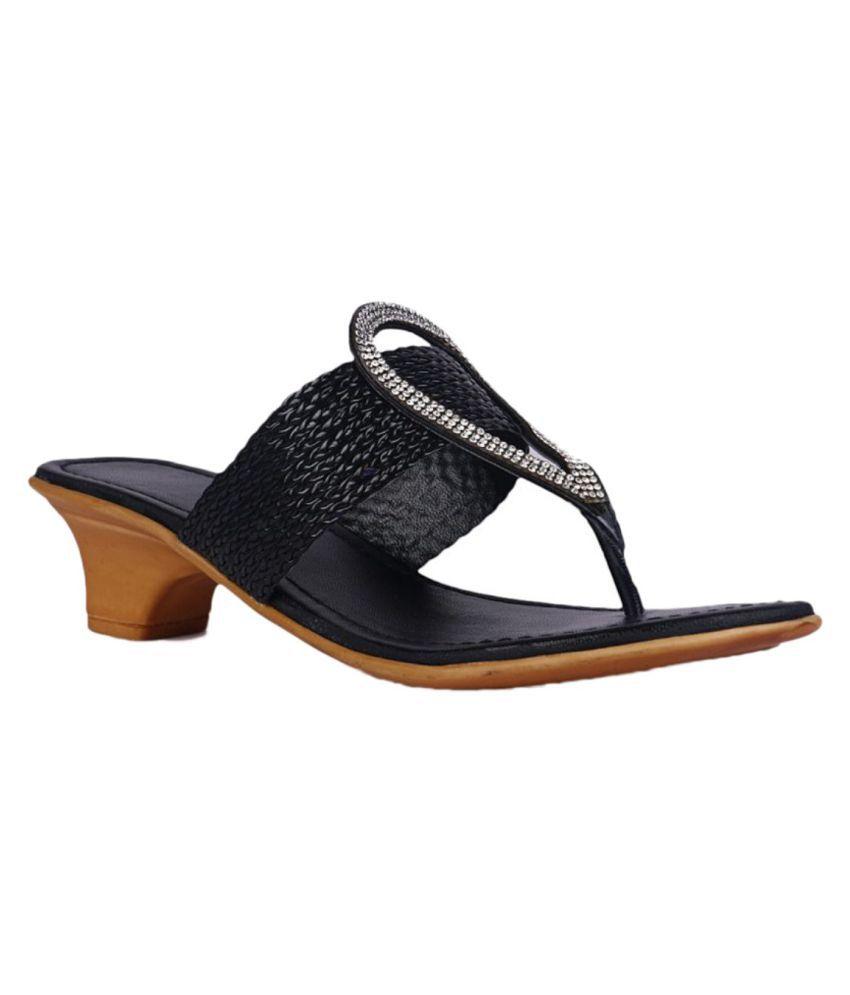 Chipmunks Black Wedges Heels