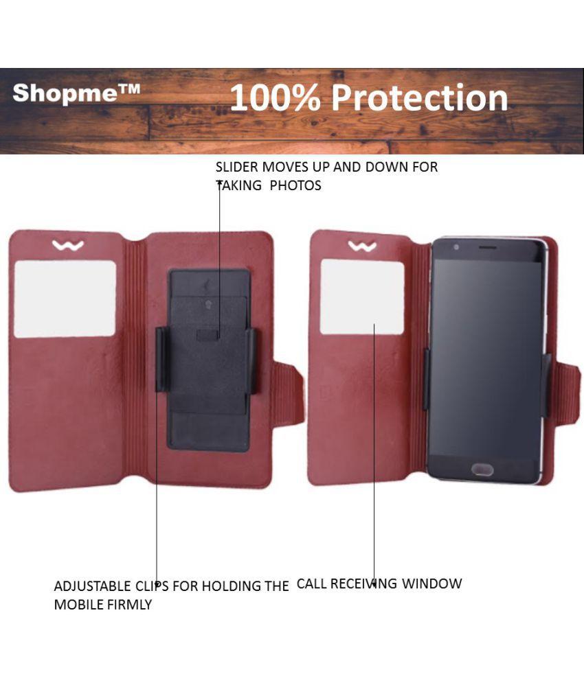 Zte Nubia Z9 Mini Flip Cover By Shopme Brown Covers Online