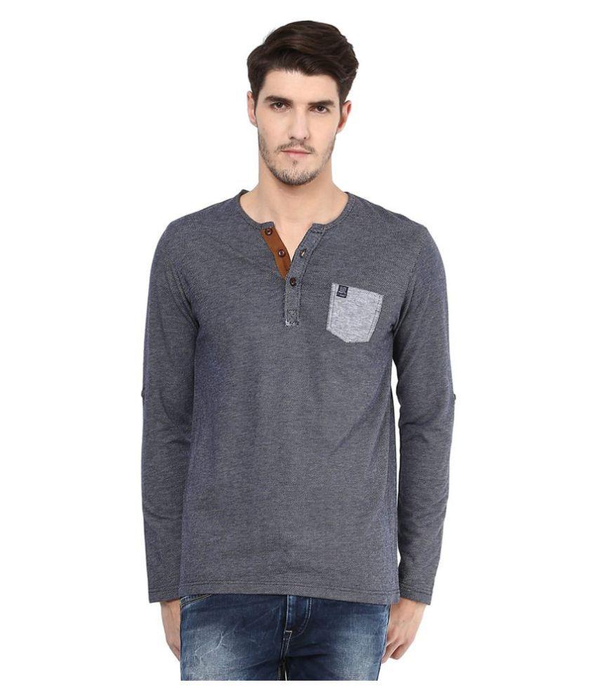 Mufti Grey Henley T-Shirt