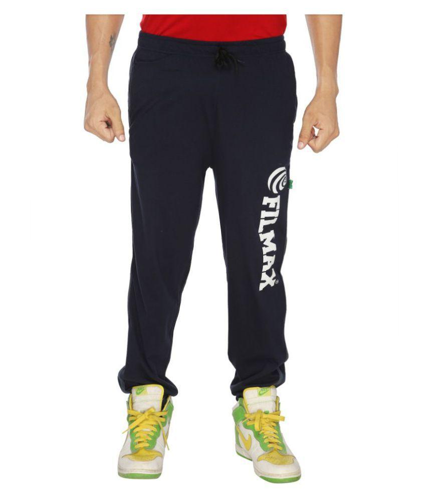 Filmax Navy Cotton Trackpants