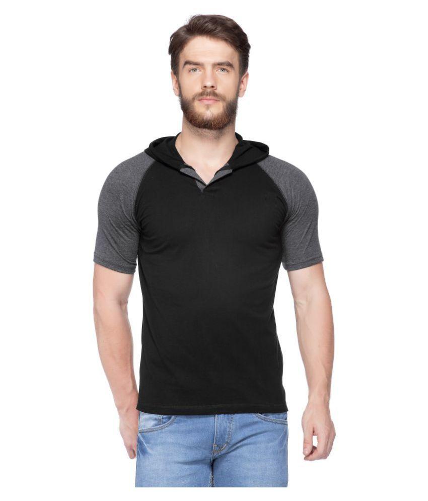 Gluck Black Henley T-Shirt
