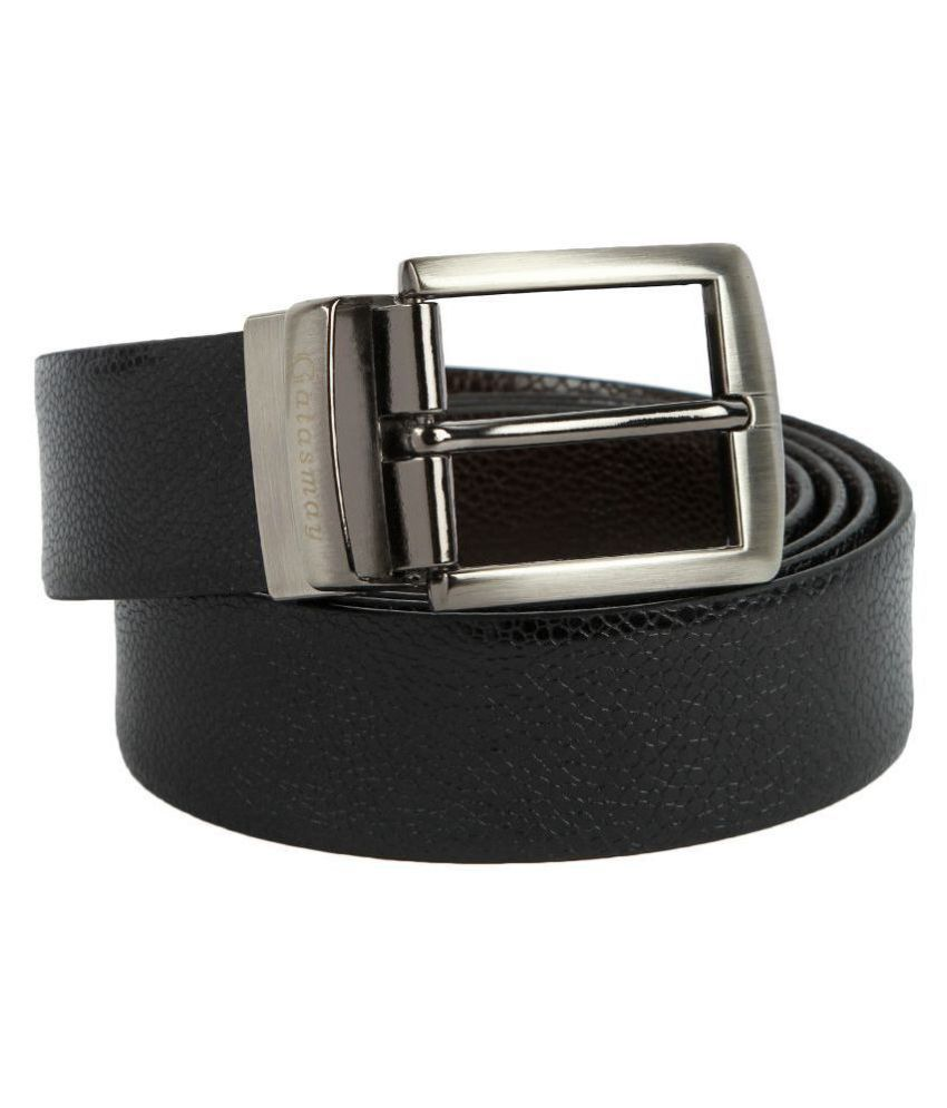 Gatasmay Black Leather Casual Belts