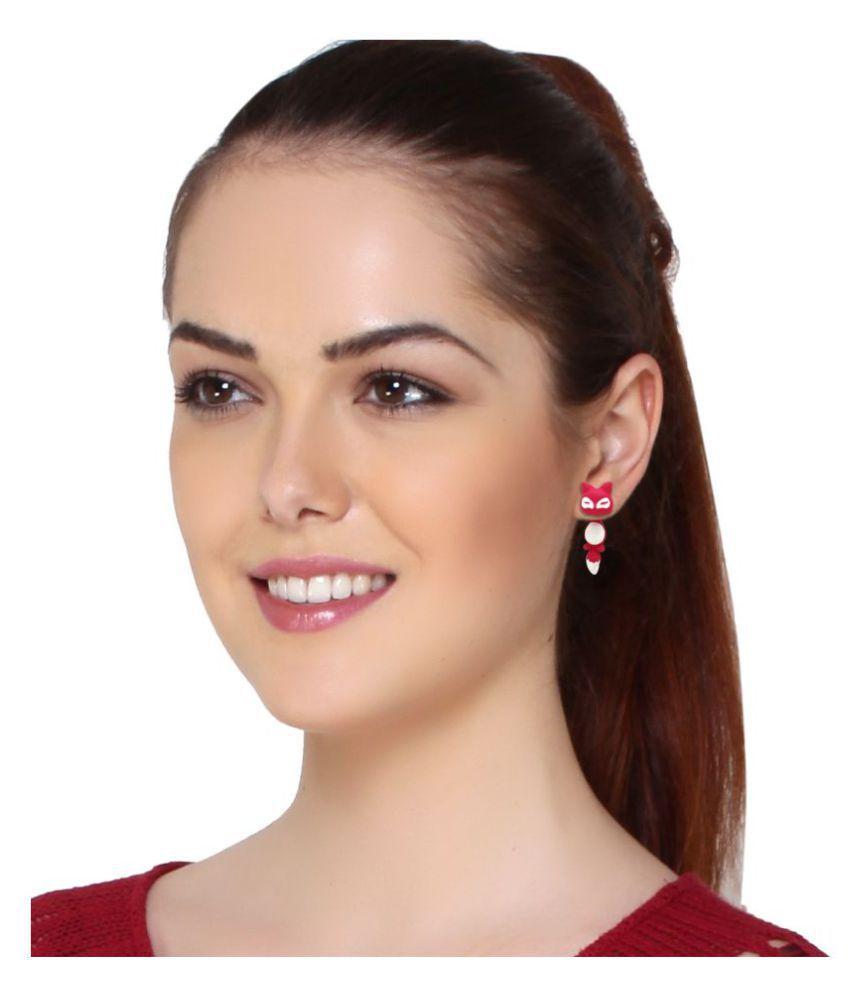 Jewels Gehna Antique Fancy Animals Stylish Studded Earrings Set For Women & Girls