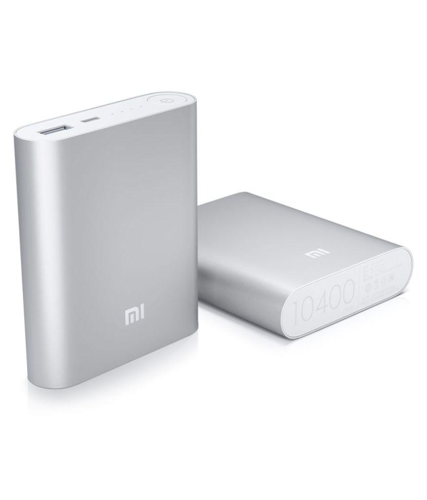 4043aa285ff Xiaomi Mi Mi Power Bank 10400 mAh Li-Ion Battery - Silver 10400 -mAh Li-Ion Power  Bank Silver - Power Banks Online at Low Prices