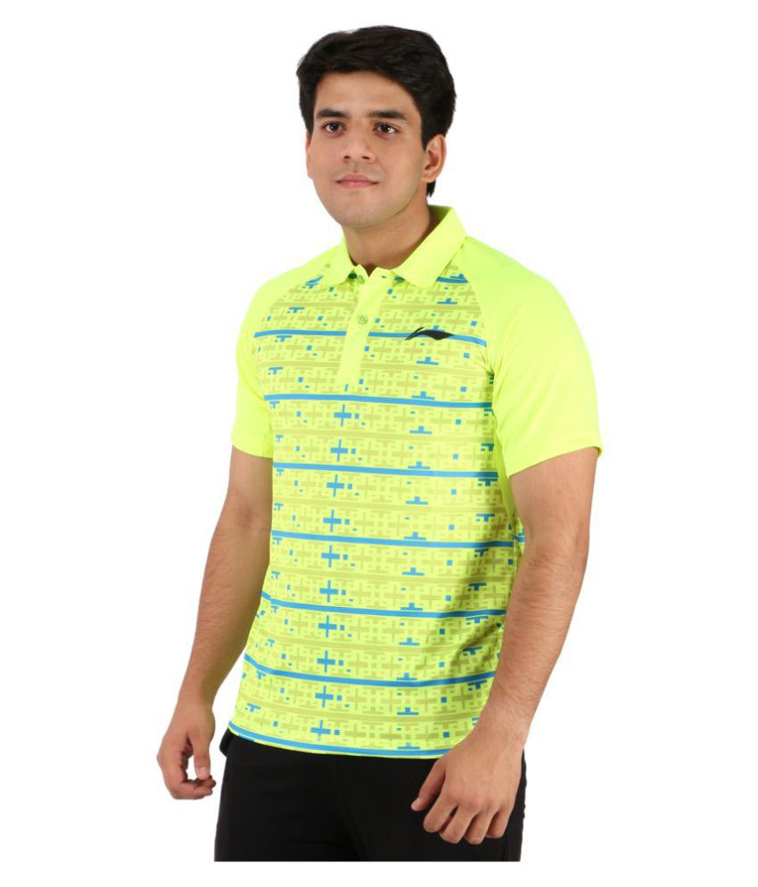Li-Ning Light Green Polyester T-Shirt Single Pack