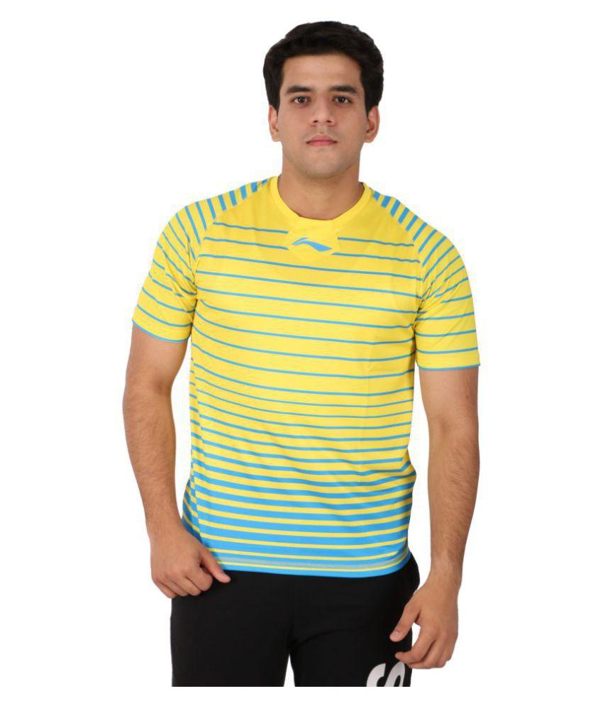 Li-Ning Yellow Polyester T-Shirt Single Pack