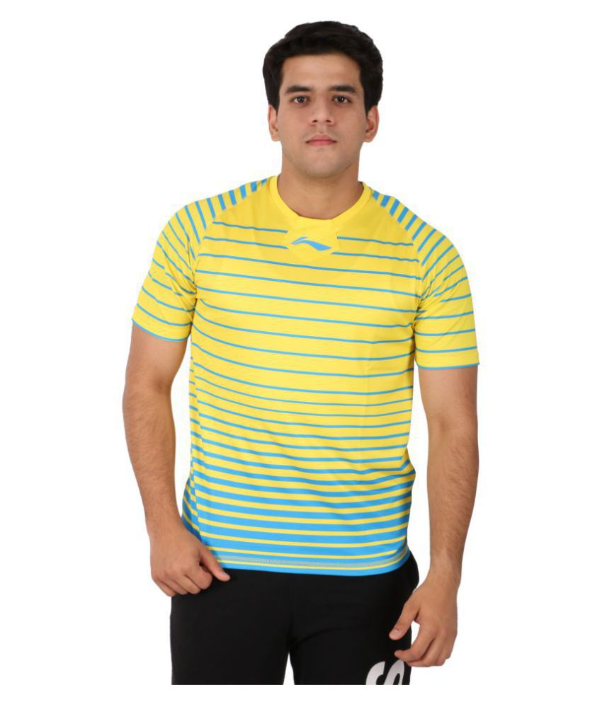 Li-Ning Yellow Polyester T-Shirt Single Pack