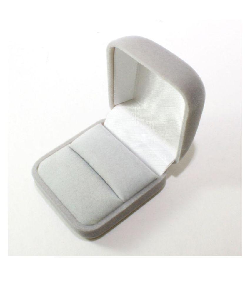 Sapro Grey Velvet Wedding Ring Bearer Jewelry Display Gift Storage