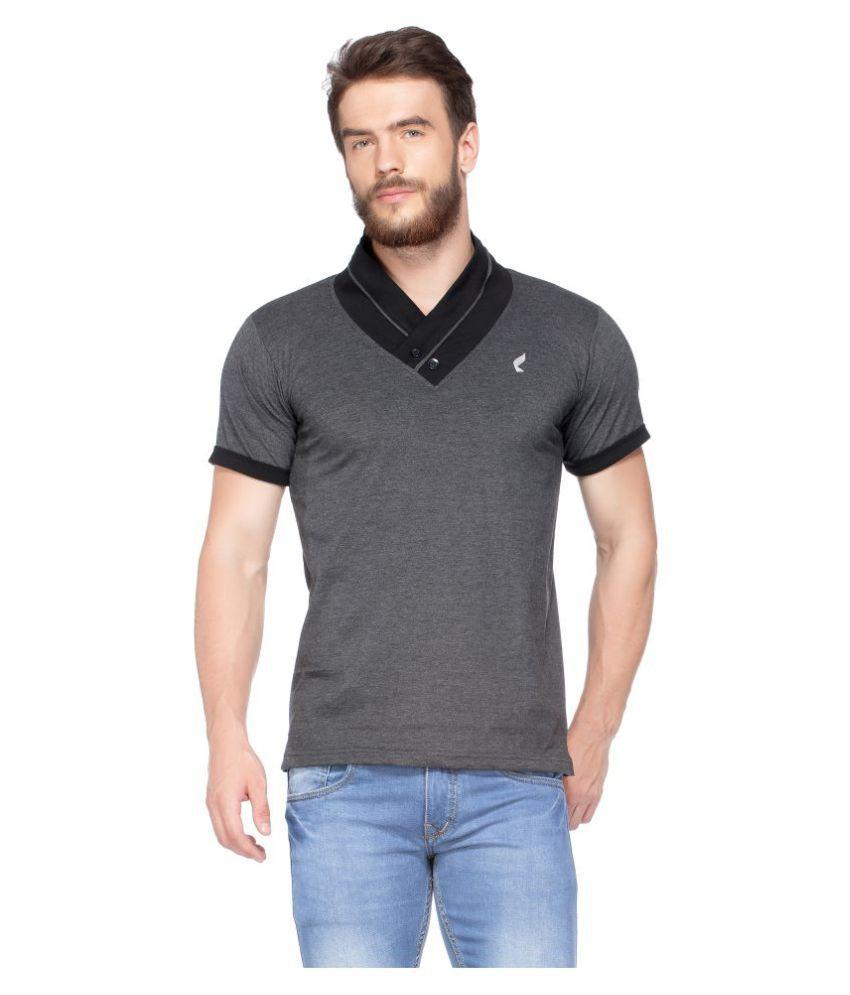 V3SQUARED Grey V-Neck T-Shirt