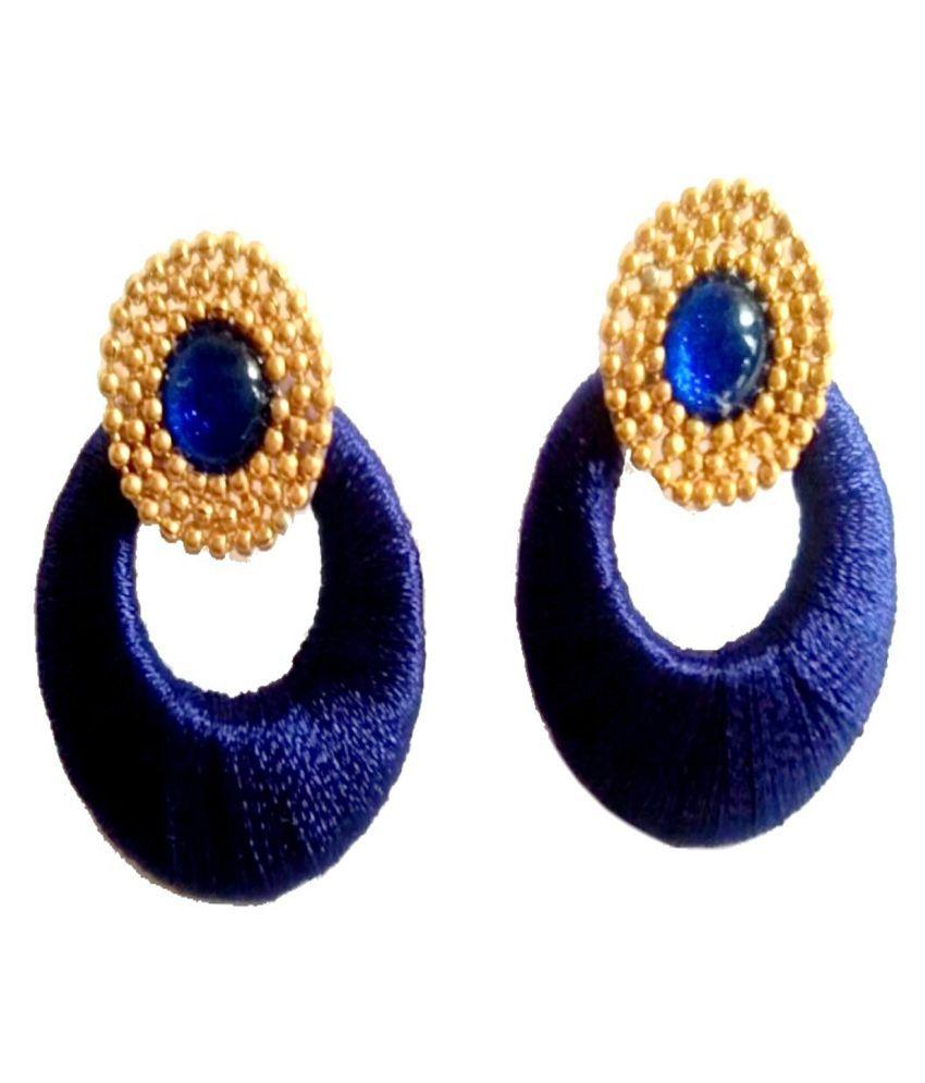 Fashionable Silk Thread earrings for women & Girls by shrungarika