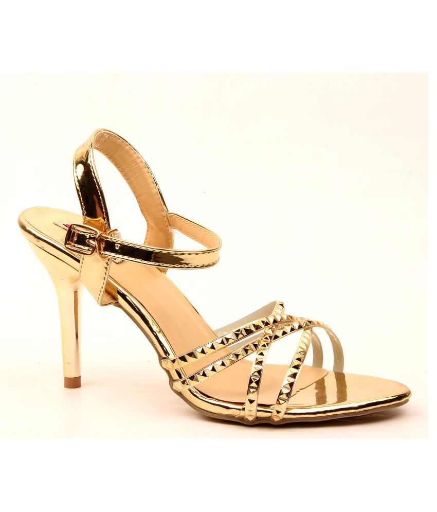 Foot Candy Gold Stiletto Heels