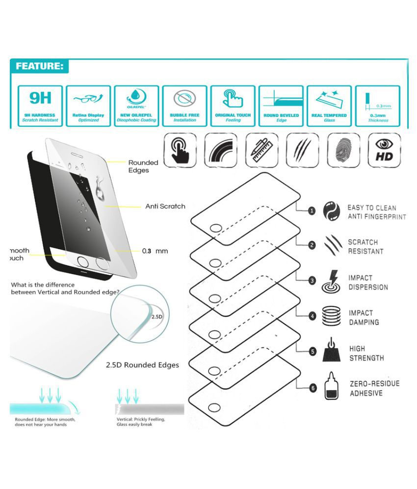 Lenovo A6000 Tempered Glass Screen Guard By Moojlo