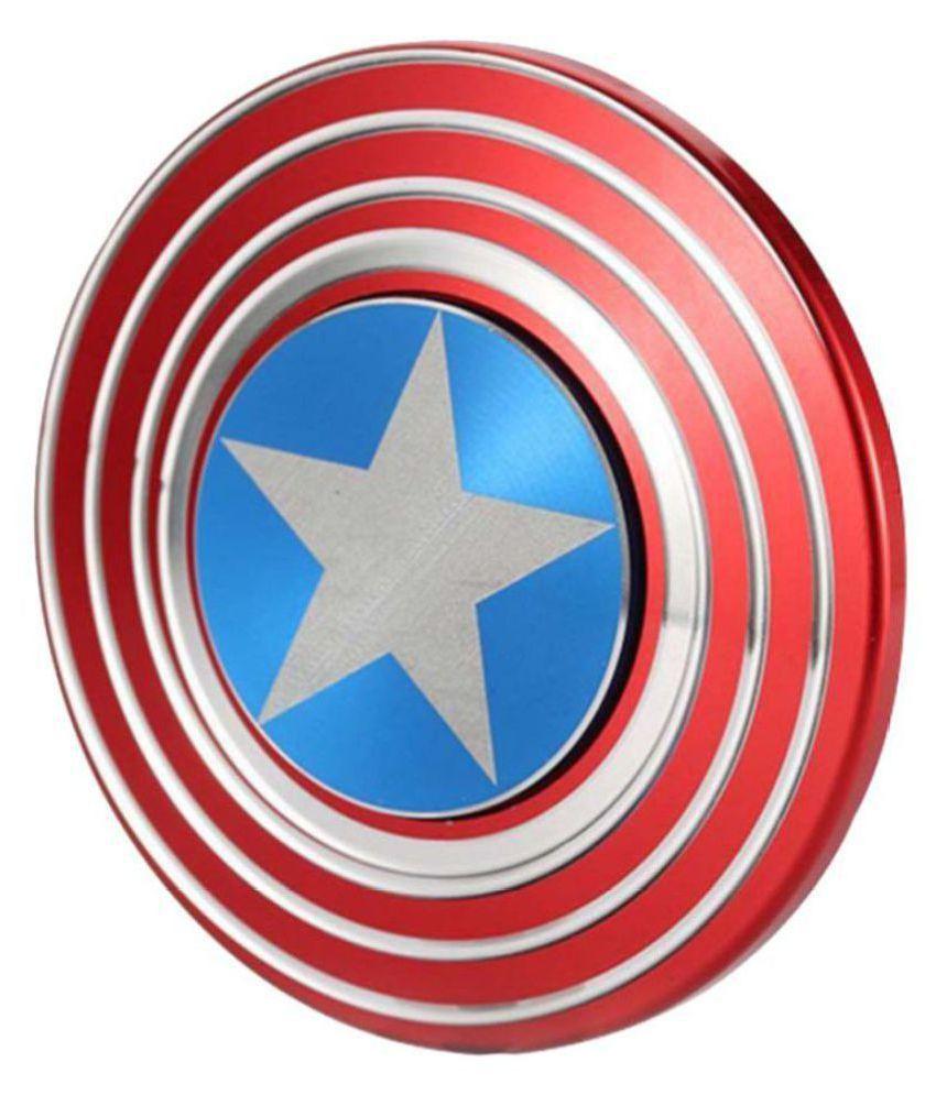 Ganesh Enterprises Captain America Shield Metal Fidget Hand Spinner - Assorted Color