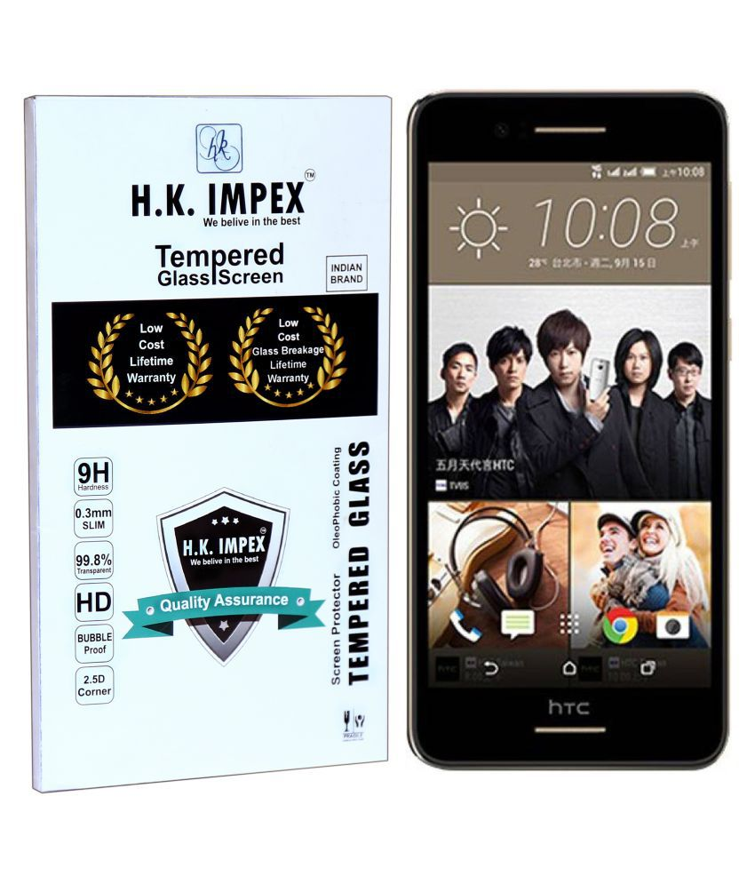 HTC Desire 728 Tempered Glass Screen Guard By H.K.Impex