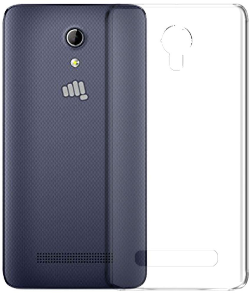 lowest price 384b1 7ebe3 Micromax Bharat 2 Q402 Soft Silicon Cases Deltakart - Transparent