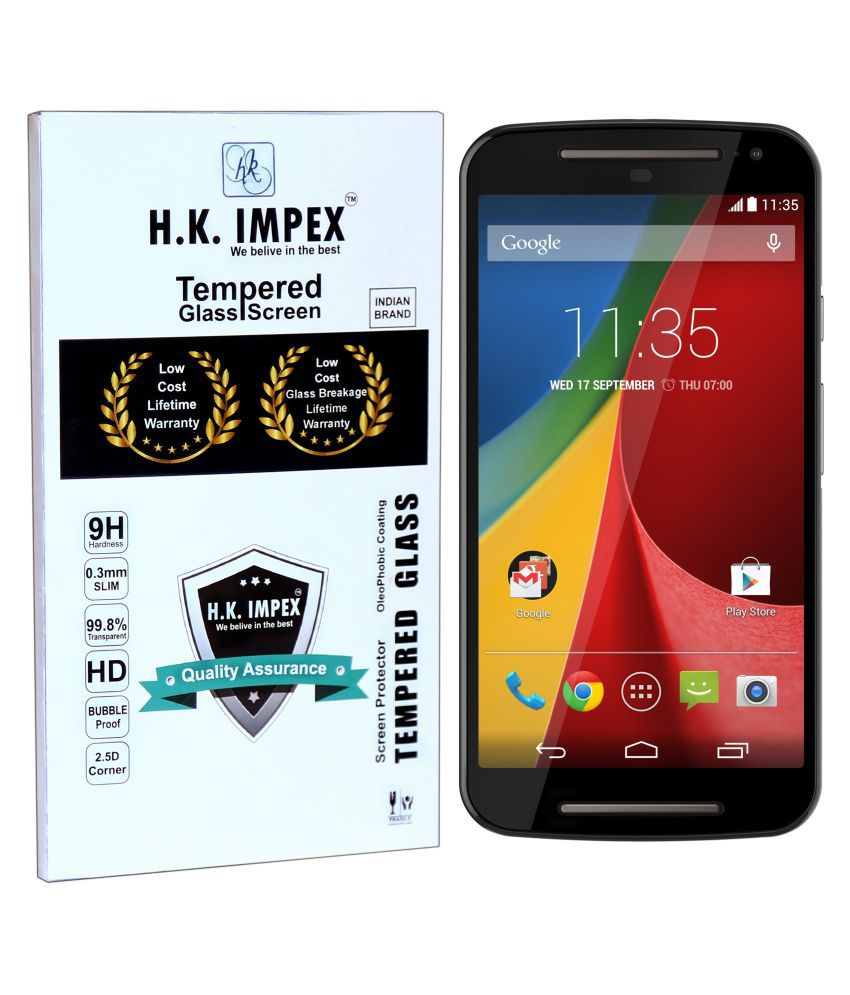 Moto G 2nd Gen. Tempered Glass Screen Guard By H.K.Impex