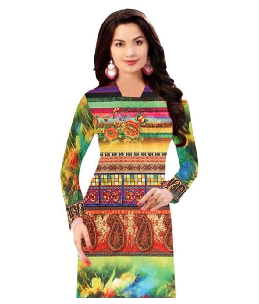 SAVANI FASHION Multicoloured Cotton Front Slit Kurti