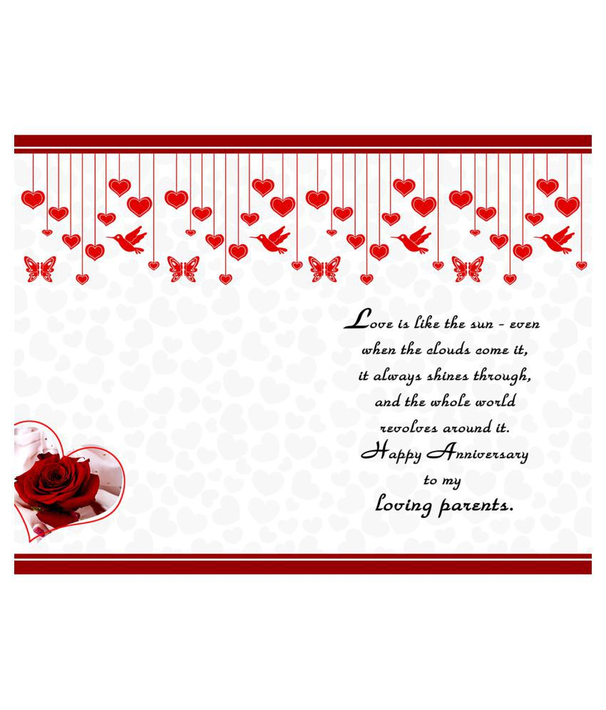 Happy Anniversary Greeting Card Buy Online At Best Price In India