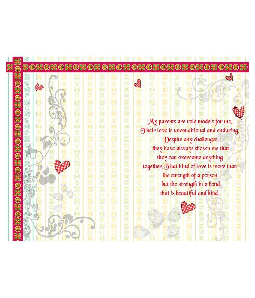 Wedding Anniversary Mom Dad Greeting Card Buy Online At Best
