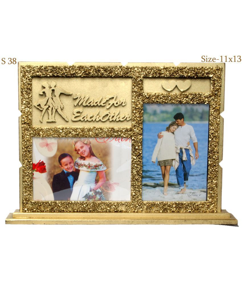 Shreenath Handicraft Wood TableTop Gold Collage Photo Frame - Pack ...
