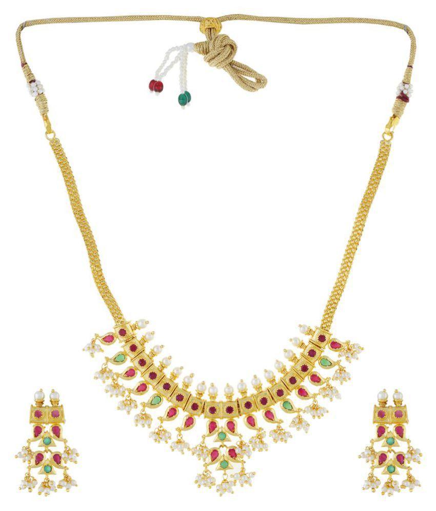 1693f4134ded6 Sl Pearls Traditional Gutta Pusalu Necklace Set