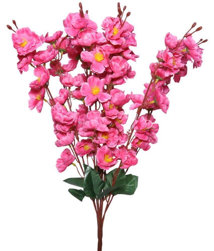 Saf Jasmine Pink Artificial Flowers Bunch Pack Of 1 Buy Saf
